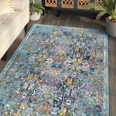 Odonnell Light Blue Area Rug Rug Size: Rectangle 710 x 96
