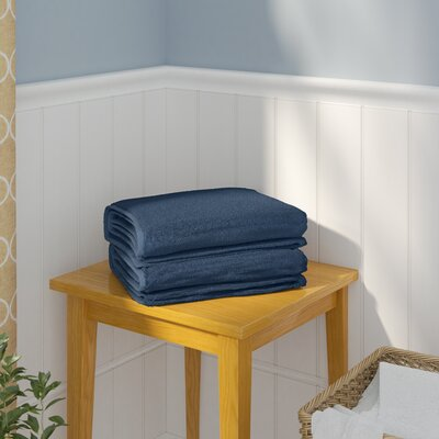 Sprimont 100% Turkish Cotton Soft Twist Bath Towel Color: Midnight Blue