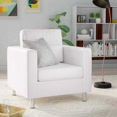 Clarence Armchair Upholstery: White