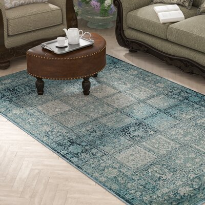 Reanna Teal Area Rug Rug Size: Rectangle 8 x 10