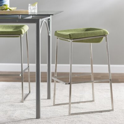 Darby 29.9 Bar Stool Seat Color: Green