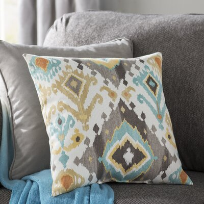 Calais Throw Pillow Color: Tahoe