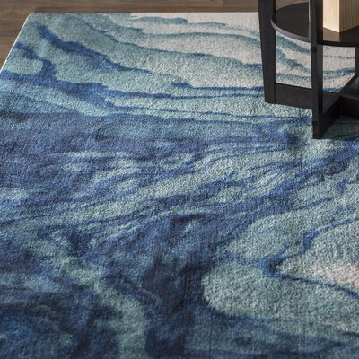 Angeline Blue Area Rug Rug Size: Rectangle 8 x 11
