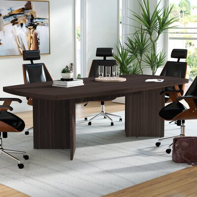 Mariana Boat shaped 30.4H x 47.5W x 96L Conference Table Finish: Bark Gray