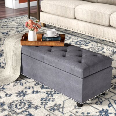 Arehart Storage Ottoman Upholstery: Gray