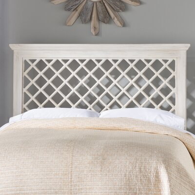 Dorian Panel Headboard Size: Full / Queen, Upholstery: Distressed White