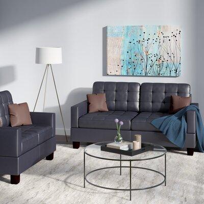 Cheyne 2 Piece Living Room Set Upholstery: Black