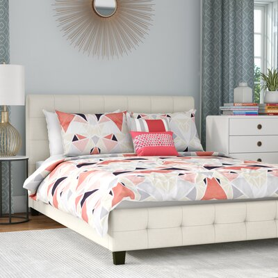 Athanas Blind Tufted Upholstered Platform Bed Size: Full