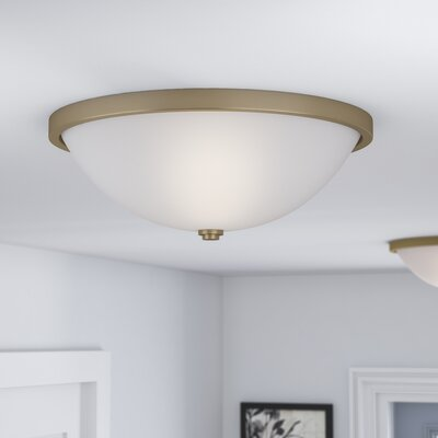 Rayfield 3-Light LED Flush Mount Finish: Aged Brass
