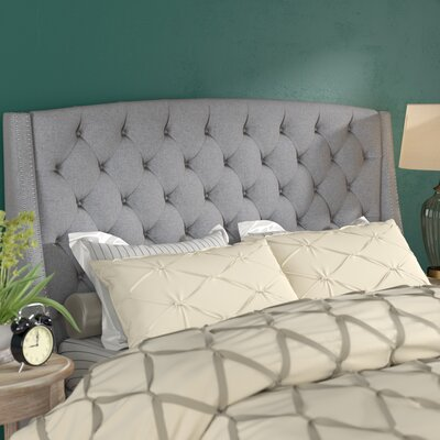 Chandeleur Upholstered Wingback Headboard Size: Queen