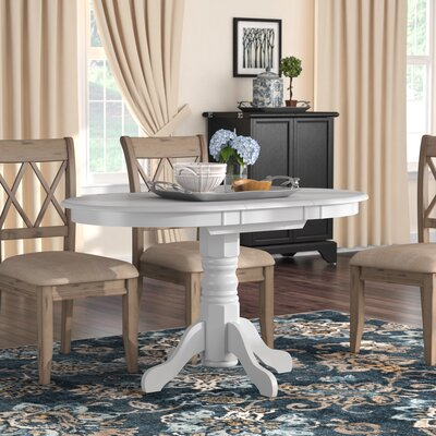 Liggett Classic Extendable Dining Table Finish: White