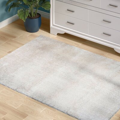 Delroy Hand-Tufted Cream Area Rug Rug Size: Rectangle 5 x 7