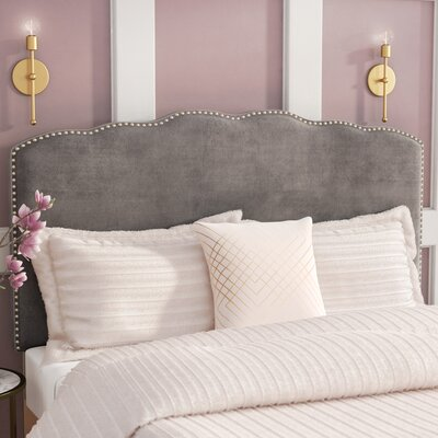 Demers Upholstered Panel Headboard Size: Queen