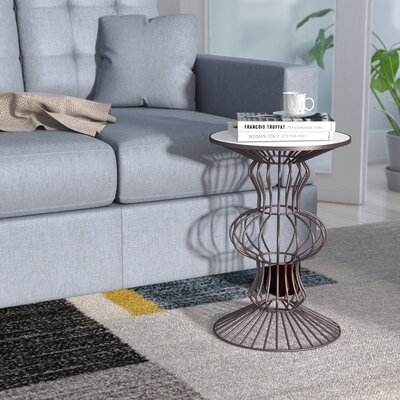 Haymarket Iron Wire End Table Color: Black