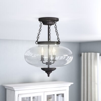 Fortunat 3-Light Semi Flush Mount Finish: English Bronze
