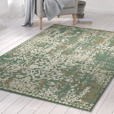 Forcalquier Green Indoor Area Rug Rug Size: Rectangle 5 x 8