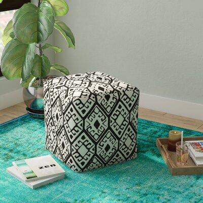 Lebanon Pouf Upholstery: Black/Natural
