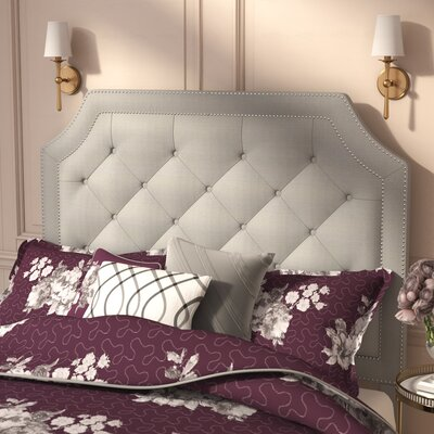 Haneul Silver Upholstered Panel Headboard Size: King