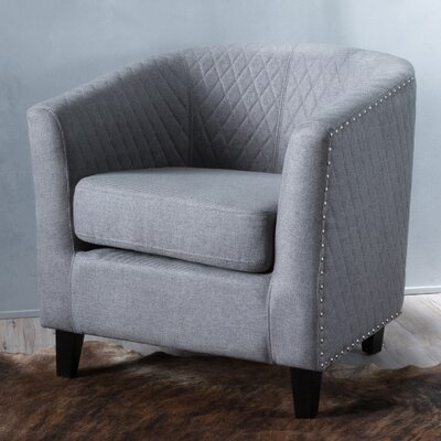 Jallet Barrel Chair Upholstery: Grey