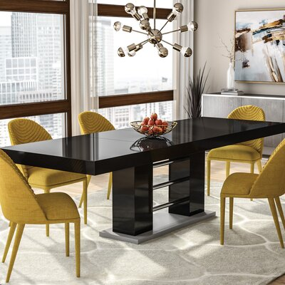 Pocomoke Extendable Dining Table Finish: Black