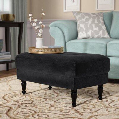 Lasseter Cocktail Ottoman Upholstery : Black