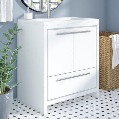 Melillo 29.5 Single Bathroom Vanity Base Finish: High Gloss White