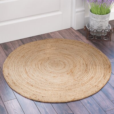 Mammoth Hand-Woven Natural Area Rug Rug Size: Round 3 x 3