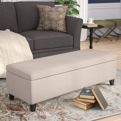 Overbey Storage Ottoman Upholstery: Cream