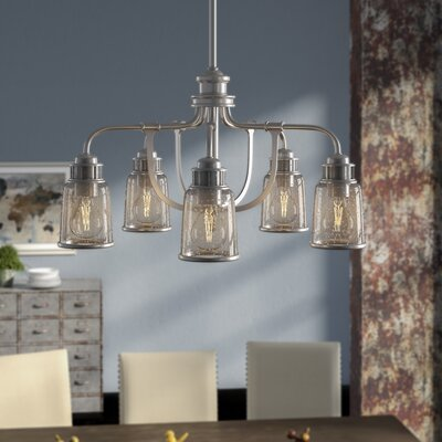 Laurenza Dinette 5-Light Candle-Style Chandelier Finish: Brushed Nickel