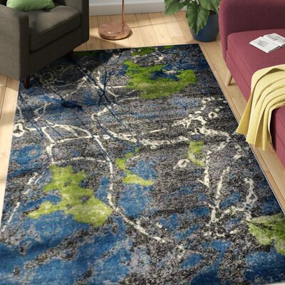 Chumley Gray/Blue Area Rug Rug Size: 5 x 8
