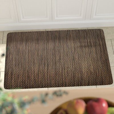 Torrick Comfort Kitchen Mat Rug Size: Rectangle 2 x 6, Color: Black Wicker