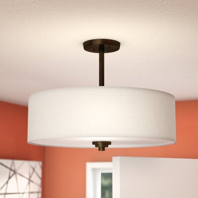 Lorie 3-Light Semi Flush Mount Finish: Oil Rubbed Bronze