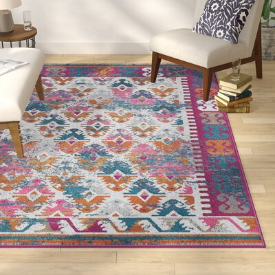 Parsons Ivory Indoor Area Rug Rug Size: Rectangle 67 x 96