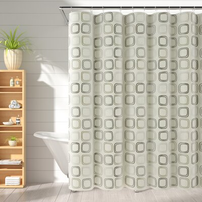 Rancourt Shower Curtain Color: Neutral