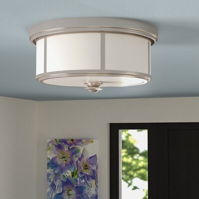Athens 2-Light Flush Mount Finish : Polished Nickel