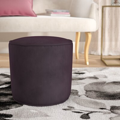 Reuven Plush Pouf Color: Eggplant