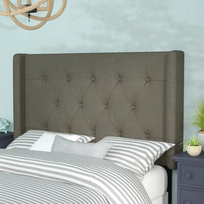 Davina Upholstered Wingback Headboard Size: Queen, Upholstery: Taupe