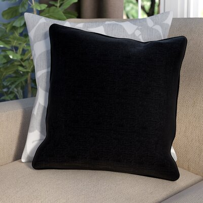 Thorson Outdoor Throw Pillow Color: Black