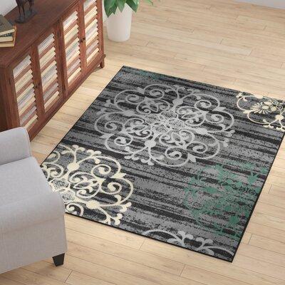 Tailynn Modern Gray/Black Area Rug Rug Size: 5 x 6