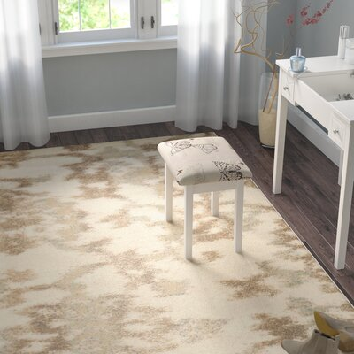 Delshire Bone Area Rug Rug Size: Rectangle 33 x 411