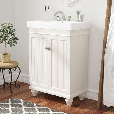 Betio 24 Single Bathroom Vanity Set Base Finish: Matt White