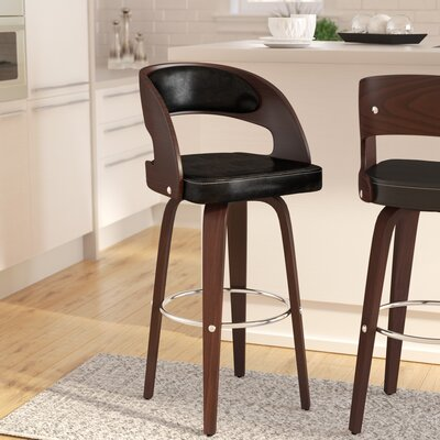 Sydnee 31 Swivel Bar Stool Color: Black