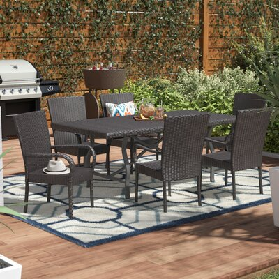 Phelps Wicker Dining Set Connery - Product photo