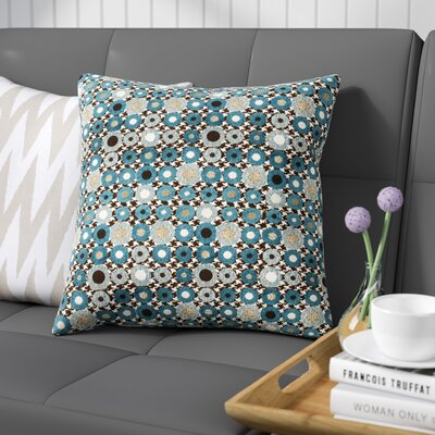Kinley Spheres Square Throw Pillow Color: Blue
