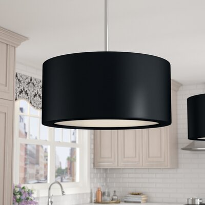 Deston 4-Light Drum Pendant Shade Color: Black