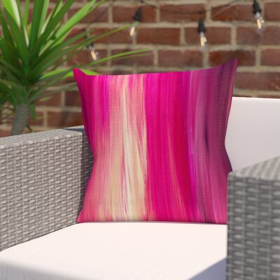 Ebi Emporium Irradiated Outdoor Throw Pillow Size: 16 H x 16 W x 5 D, Color: Magenta/Pink