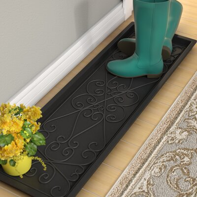 Lori Large Rubber Scrollwork Boot Tray