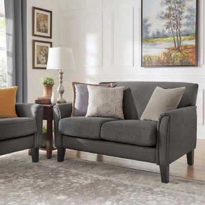 Minisink Loveseat Upholstery: Dark Gray