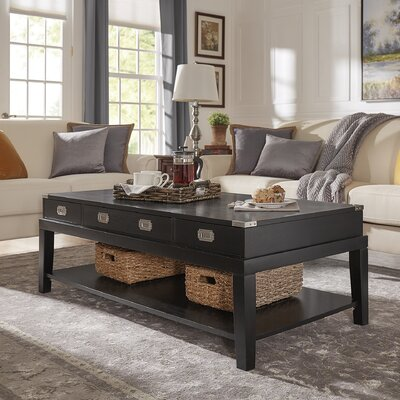 Boulder Brook Coffee Table Color: Black