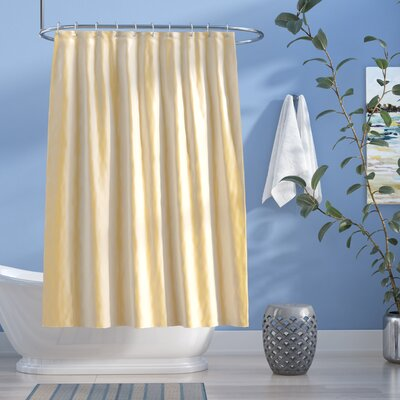 Easton Shimmer Faux Silk Shower Curtain Color: Ivory